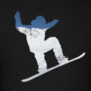 Snowboarder on snow covered mountain avalanche 01 Hoodies - Men's T-Shirt