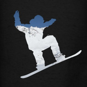 Snowboarder on snow covered mountain avalanche 01 Bags & backpacks - Men's T-Shirt