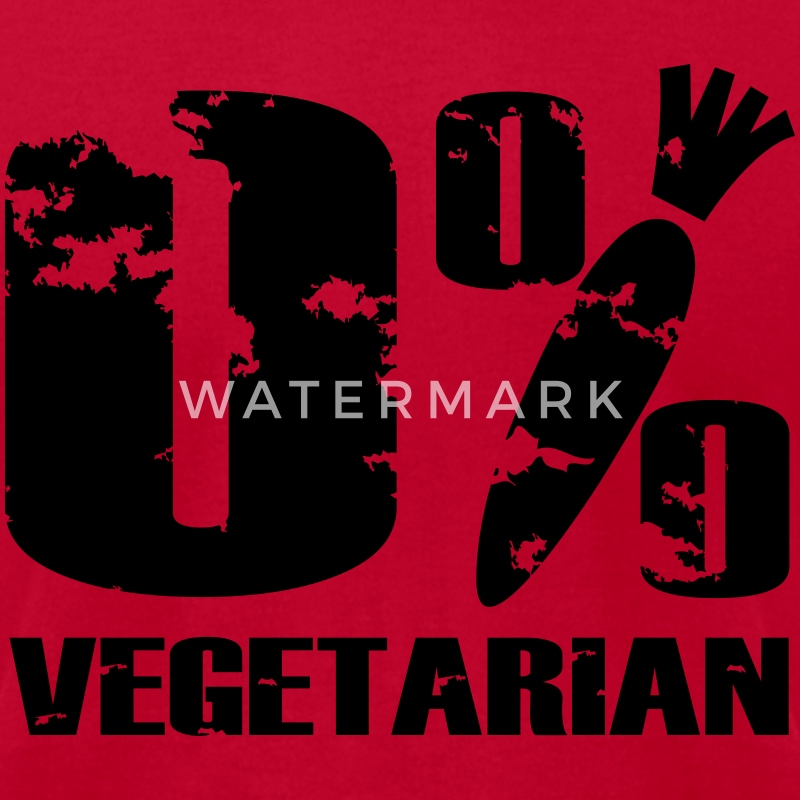 0 % vegetarian T-Shirts - Men's T-Shirt by American Apparel