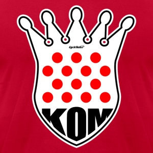 KOM King of the Mountain Tour de France - Men's T-Shirt by American Apparel