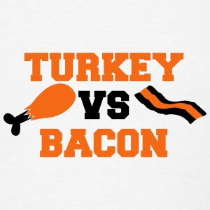 THANKSGIVING humour TURKEY Vs BACON Phone & Tablet Covers - Men's T-Shirt