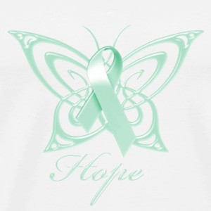 Ovarian Cancer Hope Butterfly Phone & Tablet Covers - Men's Premium T-Shirt