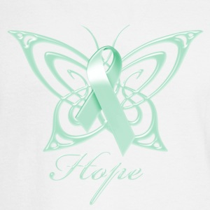 Ovarian Cancer Hope Butterfly Phone & Tablet Covers - Men's Long Sleeve T-Shirt