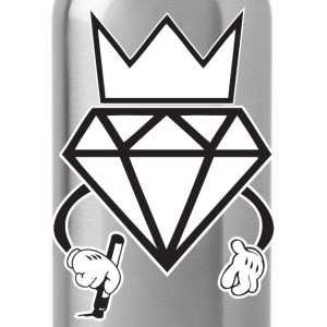 diamond crown graffiti T-Shirts - Water Bottle