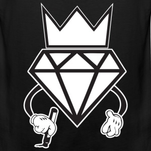 diamond crown graffiti T-Shirts - Men's Premium Tank