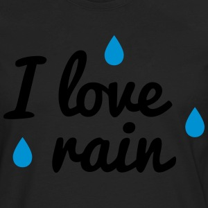 i love rain T-Shirts - Men's Premium Long Sleeve T-Shirt