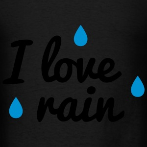 i love rain Bags & backpacks - Men's T-Shirt