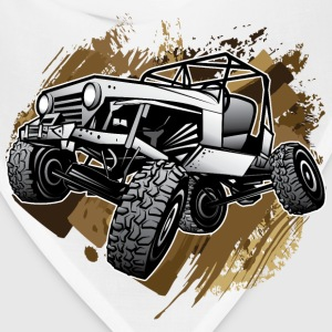 Off-Road Mudding White Jeep T-Shirts - Bandana