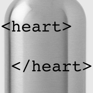 html heart T-Shirts - Water Bottle