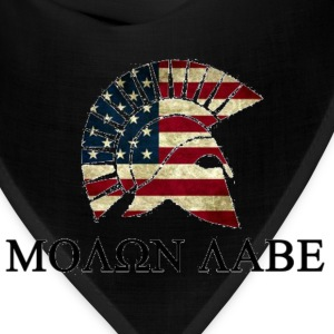 Molon Labe Red white and Blue T-Shirts - Bandana