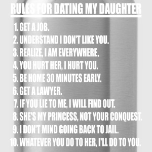 Rules For Dating My Daughter (white print) - Water Bottle