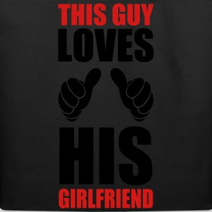 This Guy loves his girlfriend - Eco-Friendly Cotton Tote