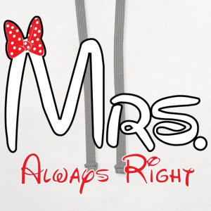 Mrs. always right - Contrast Hoodie