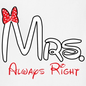 Mrs. always right - Adjustable Apron