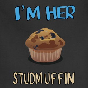 i'm her stud-muffin - Adjustable Apron