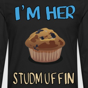 i'm her stud-muffin - Men's Premium Long Sleeve T-Shirt