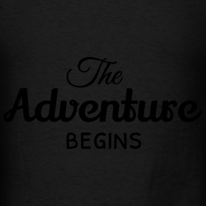the adventure begins Bags & backpacks - Men's T-Shirt