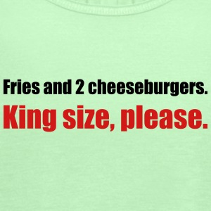 Fries and 2 cheeseburgers. King size, please. - Women's Flowy Tank Top by Bella