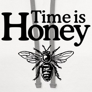Time is Honey Organic T-Shirt (Women) - Contrast Hoodie