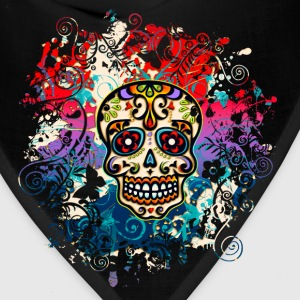 Mexican Sugar Skull, Flowers, Ornaments, Dead T-Shirts - Bandana