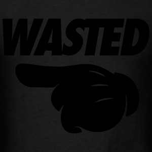 Wasted Pointing Left Hoodies - Men's T-Shirt
