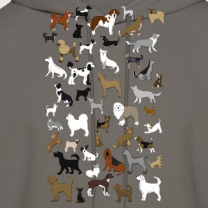 many dogs pixel T-Shirts - Men's Hoodie