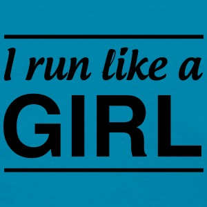 I Run Like a Girl Tanks - Women's T-Shirt