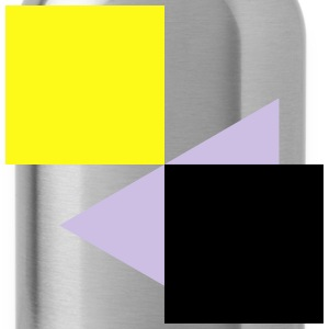 Squares Rectangles Abstract 3c Tanks - Water Bottle