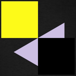 Squares Rectangles Abstract 3c Hoodies - Men's T-Shirt