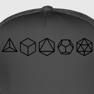 Platonic Solids, Sacred Geometry, Mathematics T-Shirts - Trucker Cap