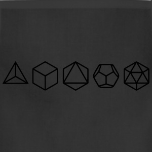 Platonic Solids, Sacred Geometry, Mathematics T-Shirts - Adjustable Apron