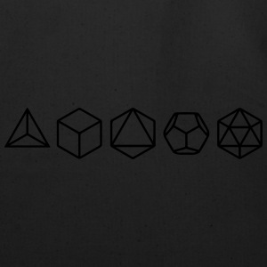 Platonic Solids, Sacred Geometry, Mathematics T-Shirts - Eco-Friendly Cotton Tote