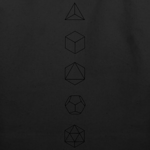 Platonic Solids, Sacred Geometry, Evolution Hoodies - Eco-Friendly Cotton Tote