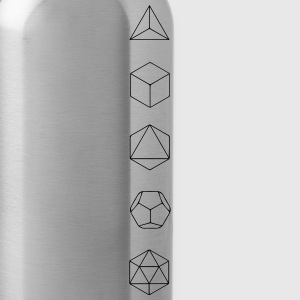 Platonic Solids, Sacred Geometry, Evolution Hoodies - Water Bottle