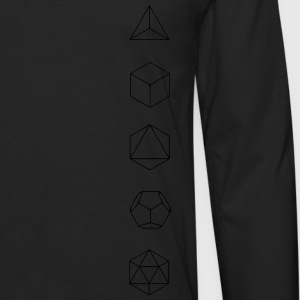 Platonic Solids, Sacred Geometry, Evolution Hoodies - Men's Premium Long Sleeve T-Shirt