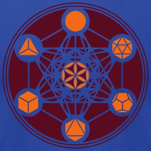 Platonic Solids, Metatrons Cube, Flower of Life Hoodies - Men's T-Shirt by American Apparel