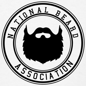 National Beard Association Beards Mustache 1c Hoodies - Men's T-Shirt