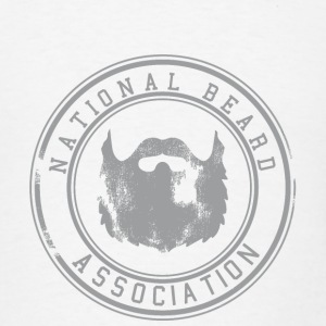National Beard Association Grunge Mustache 1c Bottles & Mugs - Men's T-Shirt