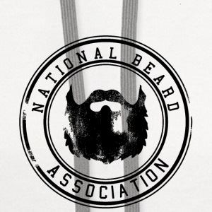 National Beard Association Grunge Mustache 1c Tanks - Contrast Hoodie