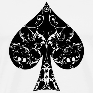 Ace of Spade floral tribal spades poker hold ´em Hoodies - Men's Premium T-Shirt