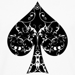 Ace of Spade floral tribal spades poker hold ´em Hoodies - Men's Premium Long Sleeve T-Shirt