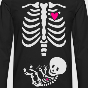 Maternity Skeleton Xray T-shirt - Men's Premium Long Sleeve T-Shirt