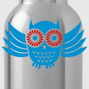 Owl (2c) Tanks - Water Bottle