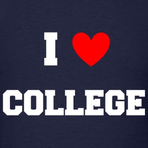 I Love College Party Design Long Sleeve Shirts - Men's T-Shirt