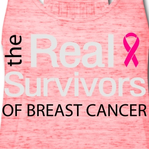 The Real Survivors of Breast Cancer Women's T-Shirts - Women's Flowy Tank Top by Bella