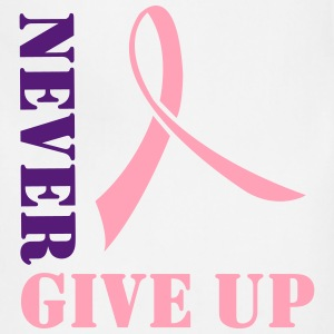 Never Give Up. Pink Ribbon Women's T-Shirts - Adjustable Apron