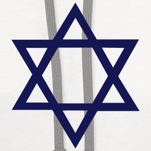 Star of David T-Shirts - Contrast Hoodie