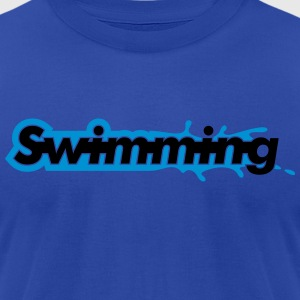 Swimming Hoodies - Men's T-Shirt by American Apparel