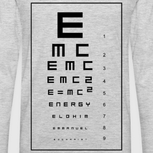 E=mc2 and the Holy Eucharist Women's T-Shirts - Men's Premium Long Sleeve T-Shirt
