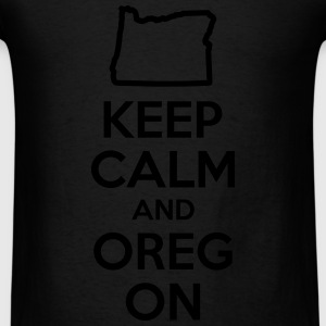 Keep Calm and Oregon Bags & backpacks - Men's T-Shirt